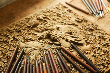 Woodworking engraving tool
