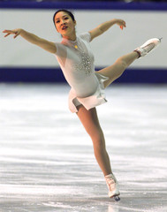 MICHELLE KWAN OF U.S. PERFORMS AT GRAND PRIX OF FIGURE SKATING IN TOKYO.