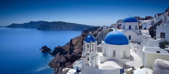 Photo sur Plexiglas Santorini Santorini Blue