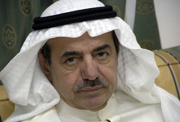 Kuwait businessman Al-Kharafi sits in his brother, former speaker of Parliament Jassim al-Kharafi's campaign headquarters in 3rd constituency Shamiya