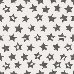 Cracked grunge stars seamless pattern. Textile or wrapping paper
