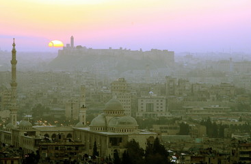 - PHOTO TAKEN 05MAR06 - General view of Aleppo in Syria during sunrise March 7, 2006. Aleppo was cho..