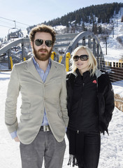 Danny Masterson and Anna Faris pose during a photo-call for the movie Smiley Face during the 2007 Sundance Film Festival in Park City
