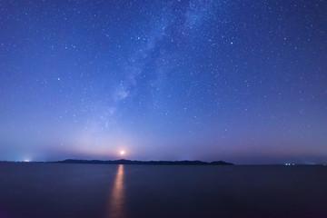Galaxy under the stars