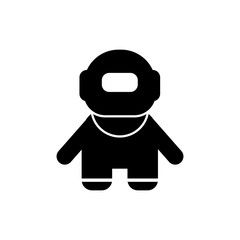 Pictogram the diver icon. Black icon on white background.