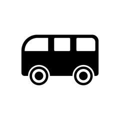 Pictogram bus icon. Black icon on white background.