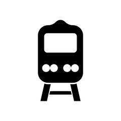 Pictogram train icon. Black icon on white background.