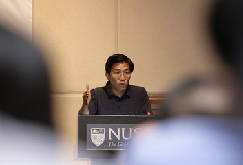 Chee secretary-general of the SDP speaks during a forum at the National University of Singapore