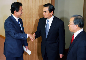 Chinese ambassador to Japan Wang meets with Japan's Foreign Miister Aso in Tokyo