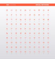 UI UX Social Network Icons