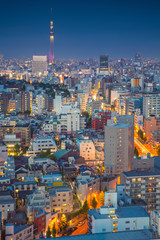 Tokyo. Cityscape image of Tokyo skyline during twilight in Japan.