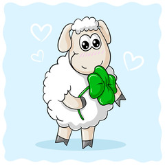 Glücks Comic Schaf