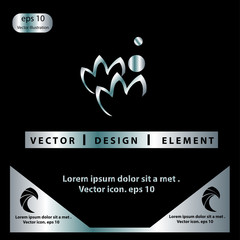 Lotus flower spa vector logo template design