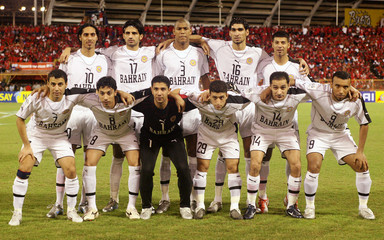 Bahrain national team pose before their game against Trinidad and Tobago in Port of Spain