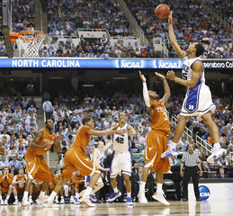 Duke University's Gerald Henderson goes up for a shot Texas during the first half of their second round NCAA tournament basketball game in Greensboro