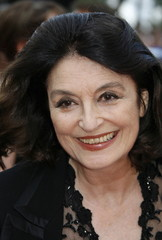 French actress Anouk Aimee arrives for a screening of [Mexican director Guillermo Del Toro's] in-com..