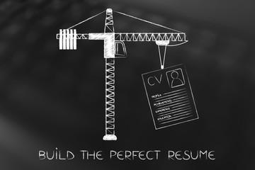 tower crane lifting a resume