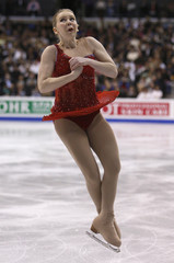 Rachael Flatt of the United States performs during the Ladies Free Skating portion of the 2009 ISU World Figure Skating Championships in Los Angeles