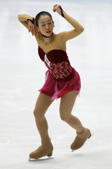 Asada of Japan performs during women's free skating programme at Japan Open figure skating competition in Saitama
