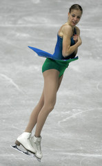KOSTNER FROM ITALY PERFORMS HER SHORT PROGRAMME AT THE WORLD FIGURE SKATING CHAMPIONSHIPS IN DORTMUND.