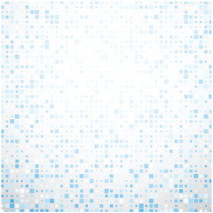Blue geometric mosaic abstract background.