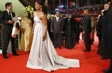"Angela Bassett arrives for the screening of ""Notorious"" at the Berlinale film festival in Berlin"