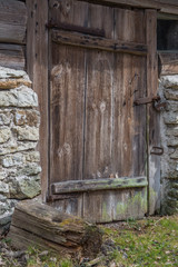 Very Old Wooden Door in Country Barn