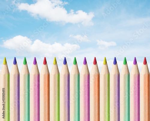 Couleur Crayon Dessin Coloriage Colorier école Tailler Dessiner
