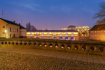 Strasbourg. Vauban Dam at night.