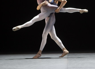 Dancers perform Victor Ullate's choreography La pastoral during a dress rehearsal in Madrid