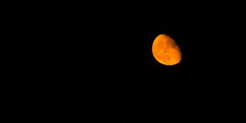 Blood Moon Lunar View Black Background Atmosphere Planet