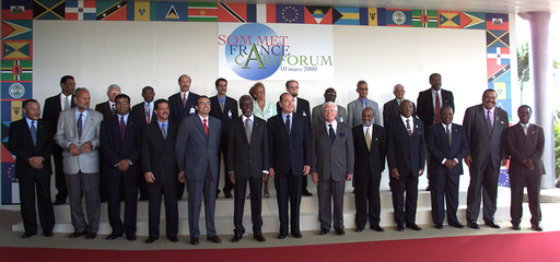 GROUP PHOTO OF CARIBBEAN HEADS OF STATE.