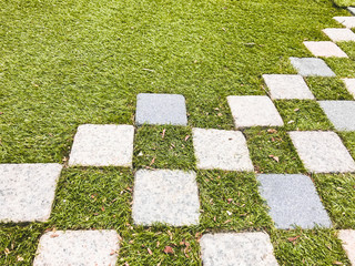 grass and stone floor background