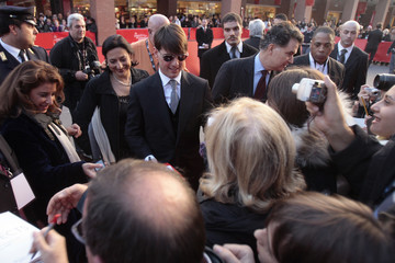U.S. actor Cruise signs autographs for fans at the Rome International Film Festival in Rome