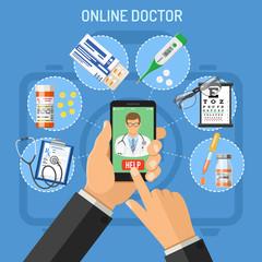 Online doctor concept