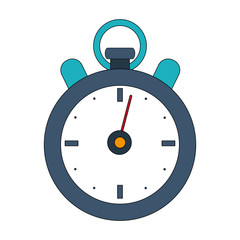color image cartoon stopwatch icon vector illustration