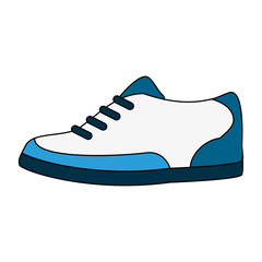 color image cartoon golf shoes port equipment vector illustration
