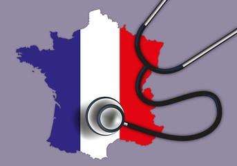 France - diagnostic - élection - économie -stéthoscope - politique,
