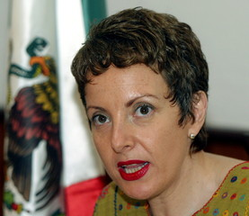 Mexico's ambassador in Cuba, Roberta Lajous, speaks during a news conference in Havana, April 23, 20..