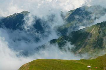 Beautiful mountain summer scenery. Fagaras mountains, Romania