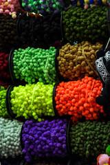 Color yarn fabric ball