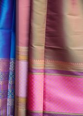 Silk cloth in closeup