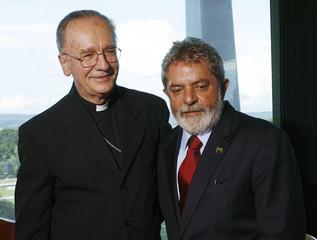 Brazil's President  Lula da Silva meets archbishop of Sao Paulo Cardinal Hummes in Brasilia