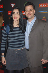 """JIMMY KIMMEL AND SARAH SILVERMAN ARRIVE AT MAXIM MAGAZINE'S """"HOT 100""""LIST PARTY."""