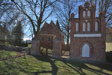 Church and pilgrims chapel in Levenhagen, Mecklenburg-Vorpommern, Germany