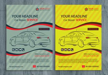 Automotive Services Flyer Layouts 7