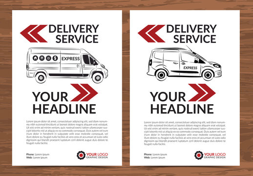 Delivery Service Flyer Layout 1