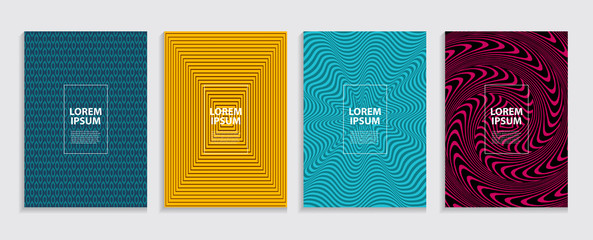Simple Minimal Covers Template Design. Future Geometric Pattern.