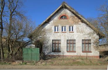 Former school building listed as monument in Dambeck, Mecklenburg-Vorpommern, Germany