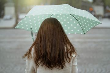 Woman with umbrella in Paris